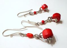 53 of 365  Single Sterling and Antique Coral LARGE by Kosmimata