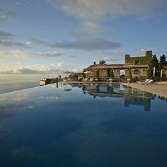 Infinity pool is all you need. #buongiornoliving #sundaypool #pool #amalficoast | SnapWidget
