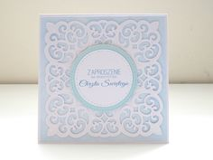 Handmade invitations with spellbinders dies Handmade Invitations, Cards, Make Your Own Invitations, Maps, Playing Cards
