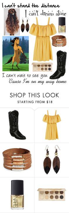 """Spirit: Stallion of the Cimarron"" by mylovewillremain ❤ liked on Polyvore featuring Laredo, MANGO, Design Lab, NOVICA, NARS Cosmetics and ZOEVA"