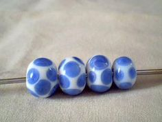 antique porcelain colored glass beads
