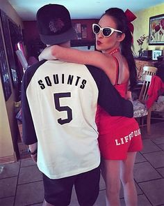 Hallowen Costume Couples DIY Couples Halloween Costume Ideas - Squints and Wendy Peffercorn DIY Couples Costumes - The Sandlot Movie Characters Original Halloween Costumes, Unique Couple Halloween Costumes, Best Couples Costumes, Diy Halloween Costumes, Halloween Couples, Pirate Costumes, Funny Halloween, Zombie Costumes, Homemade Costumes