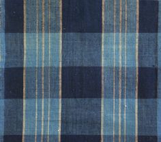 Vintage hand-loomed indigo-dyed cotton cotton cloth