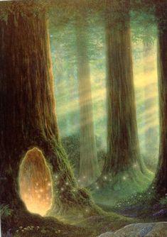 Fairy Tree,...die Tuer in die Feen- und Zwergenwelt...koennen nur Besondere sehen! Du jetzt auch!