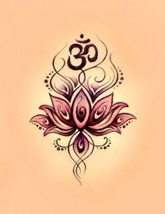 Namaste Tattoo Sanskrit | Lotus om #tattoo design #tattoo patterns| awesometattoophot...