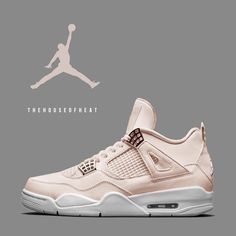 "25.2k Likes, 404 Comments - Jordan & Nike Sneaker Culture (@thehouseofheat) on Instagram: ""Would you COP or PASS on a ""Rose Gold"" AJ4? This concept is a sneaker we'd love to see for a…"""
