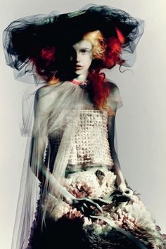 """miss-mandy-m:  """"Molly Blair in Chanel Haute Couture photographed by Paolo Roversi for Vogue Italia, March 2015.  """""""