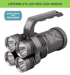 Iluminacion y linternas potentes para deportes de caza, pesca, camping, montaña y senderismo. Linterna LED CREE 4000 lumenes de brillo ultra potente.