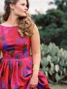 A pretty floral printed dress: http://www.stylemepretty.com/california-weddings/orange-county/2015/05/12/joyful-romantic-oc-anniversary-session/ | Photography: Ashley Kelemen - http://ashleykelemen.com/