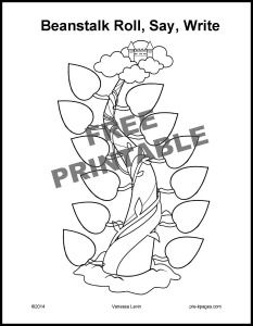 jack and the beanstalk roll say and write free printable activities for preschoolersletter - Free Printable Activities For Preschoolers