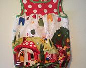 Barboteuse unisex Gnomeville Apron, Unisex, Jellyfish, Trending Outfits, Children, Unique Jewelry, Handmade Gifts, Inspiration, Etsy