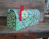 Image Detail for - fun funky painted mailbox price $ 0 this colorful mailbox will make ...