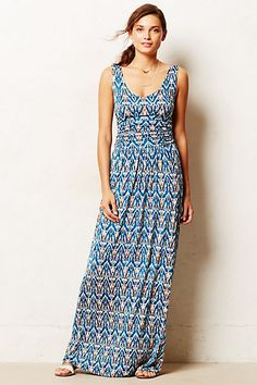 Tidal Maxi Dress - anthropologie.com Pretty fabric. And flattering shape for me. A bit low but it has pockets. Pockets are the best!