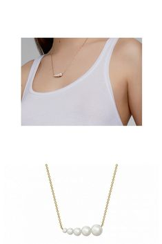 7f8b56ec6 Minimalist with plenty of attitude. #BirksGoldandPearl Freshwater Pearl  Horizontal Bar Necklace String Of Pearls