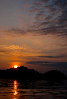 Sunset over the Shumagin Islands, Alaska   by mandalit