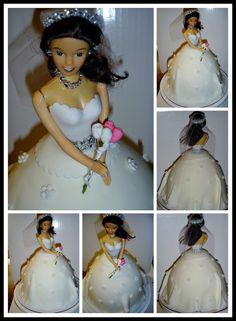 Fondant Bride Doll Cake