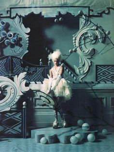 China White | Sasha Pivovarova by Tim Walker | Fashion Gone Rogue: The Latest in Editorials and Campaigns