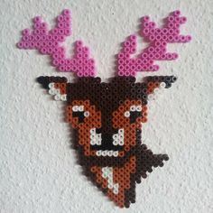 Deer hama beads by axona