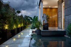 Thai house entrance hall