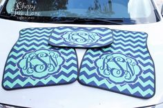 Hey, I found this really awesome Etsy listing at https://www.etsy.com/listing/167783549/personalized-car-mats-monogrammed-car