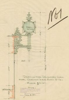 louis sullivan drawing section - Google Search