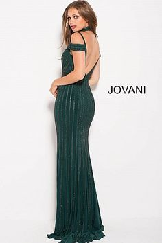 Emerald Green Jovani Dress