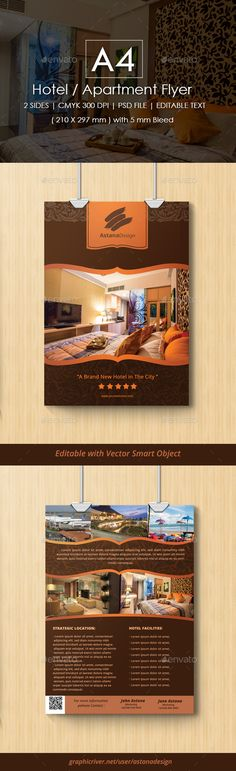 2 Sides Hotel / Apartment Flyer - Corporate Flyers