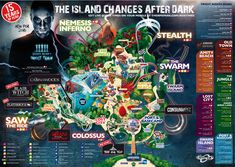 Everything You Need to Know About Thorpe Park's Fright Night! Derren Brown, Thorpe Park, Fright Night, Lost City, Beach Town, After Dark, South Wales, Parks, Design Inspiration