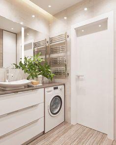 Art Deco Bathroom, Bathroom Design Small, Bathroom Layout, Bathroom Interior Design, Classic Bathroom, Modern Bathroom, Laundry Bathroom Combo, Laundry Room, Casa Milano