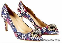 J Crew Collection Everly Printed Jeweled-Toe Pumps  Style 06703  #JCrew #PumpsClassics