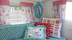 vintage rv trailers pictures of makeover   Shasta renovation via Cornbread and Beans Quilting Company
