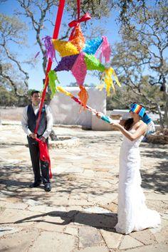 Fiesta Celebration from Peacock Photography « Southern Weddings Magazine Wedding Bells, Our Wedding, Dream Wedding, Wedding Pinata, Hacienda Wedding, Wedding Reception Games, Southern Weddings, Mexican Weddings, Boho Beach Wedding