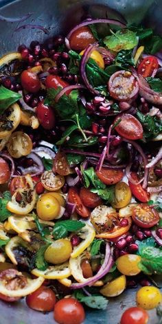 Wave goodbye to the Waldorf. Tell the chopped salad it's getting cut. This Tomato and Roasted Lemon Salad leaves those boring alternatives in the dust | Health.com