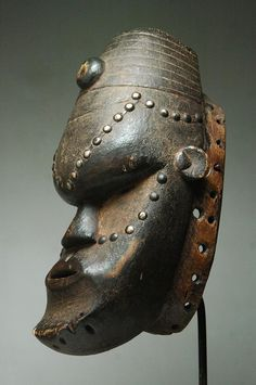 Africa | Mask from the Bete people of the Ivory Coast and Liberia | Wood and metal | ca. early to mid 1900s