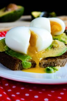 Egg And Avocado Toast ~ This trio is utterly tasty and wonderful, and it will fill you up with vitamins and energy that we need so much at the morning.