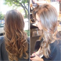 Love the right! def gonna be my summer hair for this year!