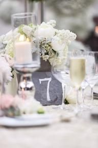 Stone Table Numbers | Habitat Event Planning habitatevents.com #habitatevents #tables #stone