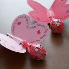 Here are some do-it-yourself Valentine's your kiddoes can take to school. the force is strong with you, valentine Make these great S. Valentines Day Treats, Valentine Heart, Diy Crafts For Kids, Arts And Crafts, Craft Ideas, Butterfly Template, Diy Butterfly, Butterfly Shape, Classroom Treats
