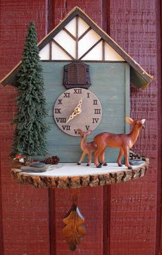 Woodland Deer Cuckoo Clock by blackforestworks on Etsy