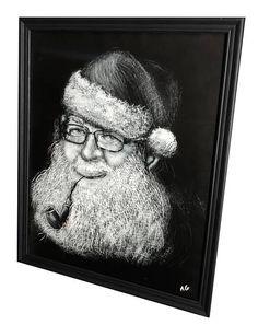 Santa Clause Window Painting