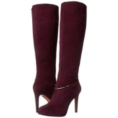 Nine West Women's Pearson Suede Knee High Boot (255 SGD) ❤ liked on Polyvore featuring shoes, boots, chukka boots, suede boots, knee boots, nine west en suede leather boots