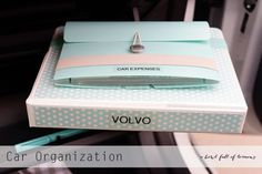 Create a Glove Box Command Center #organizingtips