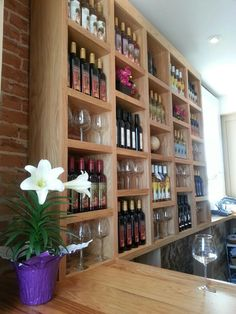 Check out Wide River Winery's beautiful new tasting room in Le Claire. Anyone else want wine shelves like that in their home?