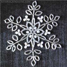 Seed bead snowflakes tutorial