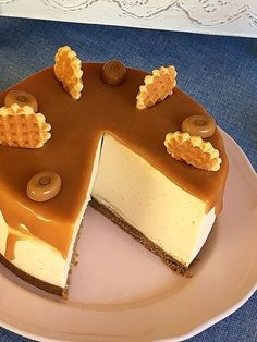 Receta / tarta mousse de crema pastelera y toffee, irresistible...