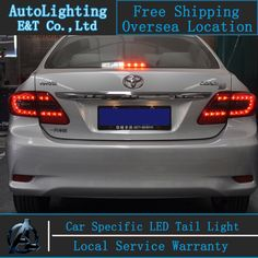 (255.75$)  Watch here - http://aiy98.worlditems.win/all/product.php?id=32492867260 - Shipping Option LED Tail Lamp for Toyota Corolla tail lights 2011-2013 Altis led rear trunk lamp cover drl+signal+brake+reverse