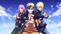 Mother, Father, Kid >> Like Family anime   Naruto Uzumaki Sakura Haruno Naruto Anime 1920x1080