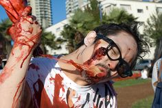 zombie walk has blood, brains, and boobs.