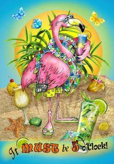 Lori Schory - Flamingo 5 O& Flamingo Decor, Pink Flamingos, Pretty Birds, Pretty In Pink, Beautiful Birds, Pink Bird, Beach Art, Illustrations, Bird Feathers