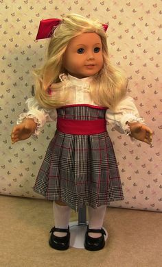 Nellie American Girl Outfit (dress, barrette, socks/shoes included). $12.00, via Etsy.